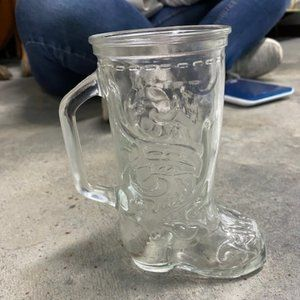 Vintage Glass Boot Mug